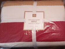 New ListingPottery Barn Teen Heritage Rugby Quilt Full/Queen New