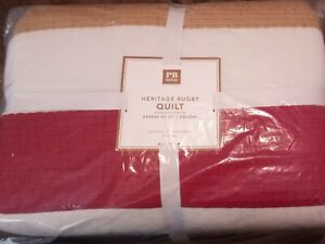 Pottery Barn Teen Heritage Rugby Quilt Full/Queen NEW