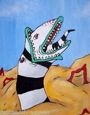 Beetlejuice Sandworm Painting 8 x 10 Acrylic Canvas Pop Art Fan Beatlejuice