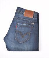 27634 Levi's 514 Droit Slim Bleu Hommes Jean En Taille 30/32