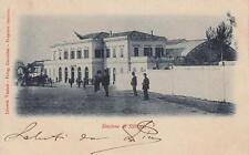 A8284) STAZIONE DI SASSARI. VIAGGIATA NEL 1901 DA SASSARI.