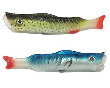 2PCS Soft Fishing Lures Popper Silicone Bait Swim Topwater Wobblers Soft Tail