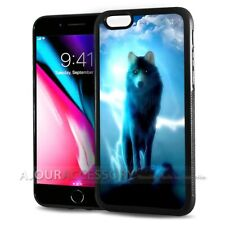 ( For iPhone 7 ) Back Case Cover AJH11468 Night Wolf