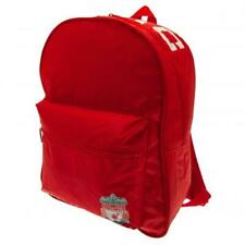 Liverpool FC Official Crested Polyester Red Backpack School Bag Zip Pockets