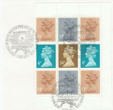 (55345) GB Used Story of The Times Booklet Pane 1985 ON PIECE