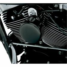 Drag Specialties Black Smooth Horn Cover For Harley Softail FLHX FLT FLHT Dyna