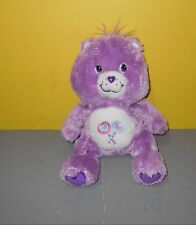 Care Bears Share Bear Purple Lollipops Tummy Bear Purple 25th Anniversary Plush