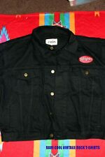 RHINO PROMO DENIM JACKET w/ 6 POCKETS * NEW! * Black * Unisex Size L (M)