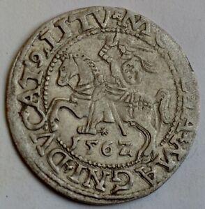 Lithuanian 1/2 Half Grossus 1562, Polgrosz, King Sigismund II Augustus, Poland