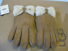 Ugg Classic Bow Shorty Chestnut Women Gloves US Size S