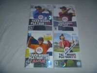 Tiger Woods PGA Tour 07 08 09 All-Play & 10 Nintendo Wii Complete 4 Game Set Lot