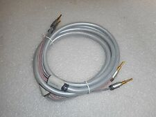 Belkin PUREAV audio speaker cable ~12' length with banana plug terminals