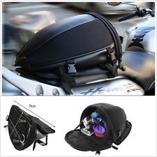 Motorcycle Bike rear trunk Waterproof Back Seat Carry Luggage Tail Bag Saddlebag
