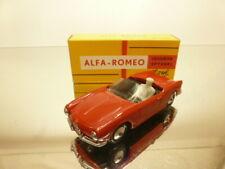 METOSUL 3 ALFA ROMEO GIULIETTA SPIDER - RED 1:43 - VERY GOOD CONDITION IN BOX