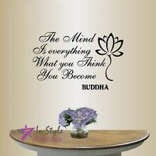 Vinyl Decal The Mind Is Everything Buddha Quote Wisdom Yoga Room Wall Decor 462