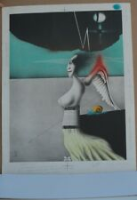 TEST PRINT-LITHOGRAPH PAUL WUNDERLICH-UNSIGNED-GOOD TO PRINT 1975