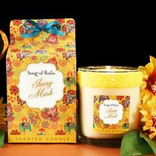 Song of India Ivory Musk Scented Candle in Beautiful Gift Box 200g 40652