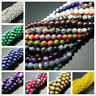 Wholesale Natural Gemstone Round Spacer Loose Beads Bracelets Jewelry Making