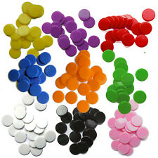 100 Spielchips Plastik Chips Plastechips Bingo Marker 19 mm 3/4 inch NEU