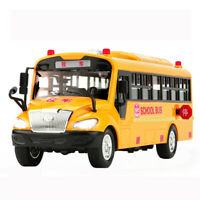 Big Size Children School Bus Toy Model Inertia Car with Sound Light for Kid A4C5