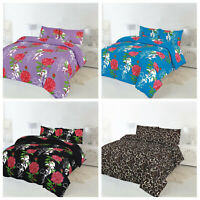 Rose Duvet Cover with Pillow Case Quilt Cover Bedding Set Single Double King