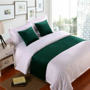 Luxury Velvet Bed Runner Scarf Bed Tail Towel Home Hotel Bedroom Bedding Decor