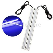 2x Blue Super Bright COB Car LED Light DRL Fog Driving Lamp Waterproof 17cm 12V
