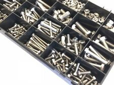 Marine Stainless Steel A4 Bolts and Nuts Setscrews 380 Assorted M4 M5 M6 M8 M10