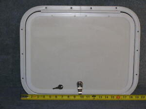 RV Bus Van Cargo Trailer Access Compartment Storage Hatch Bay Door 19.5 x 15.5