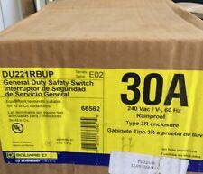 Square D 30amp Safety Switch Du221rbup Disconnect 240volt Rainproof Disconnect
