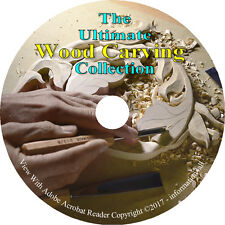 11 Books on CD, Ultimate Library on Wood Carving, Woodworking, Carve, Cutting