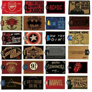 Large Selection Novelty Licensed Door Mats Made From 100% Coir With Rubber Back