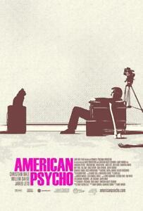 American Psycho Comedy Slasher Film Poster Glossy Art No Frame Home Wall Decor