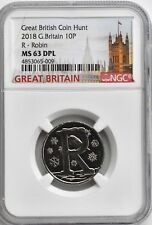 More details for 2018 10p great britain r robin ngc ms63 dpl british coin hunt