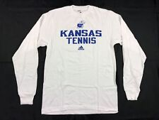adidas Kansas Jayhawks - White Cotton Long Sleeve Shirt (XS) - Used