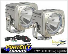"LED 20 Watt Square Driving Light Kit Wide Spread Beam 3.5"" 4WD Chrome LS7126"