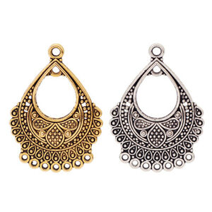 10 x Silver/Gold Tone Earring Chandelier Connector Charms Pendants