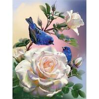 5D DIY Full Drill Square Diamond Painting Flower and Bird Cross Stitch Kit