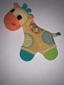BRIGHT STARTS Washable GIRAFFE Lovey Crinkle Teether TOY Baby Infant (lot K)