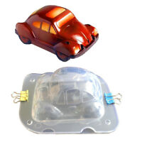 Car Design 3D Chocolate Mold DIY Handmade Cake Plastic Chocolate Making Tool B$