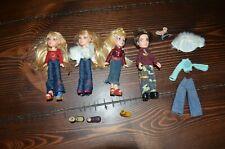 "MGA Lil' Bratz Mini 4"" Dolls Lot with Clothes"