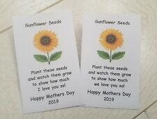 Mother's Day Sunflower Seed Packet Envelope Gift Mum Nan Grandma Nanny Nanna