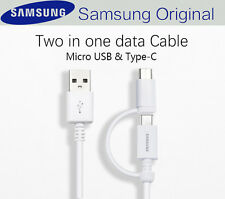 original Samsung fast charge 2in1 micro USB & type c cable s8 note 8 s7 s6 s9 +