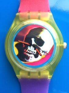 Pop Art Skull - Retro 80s designer watch