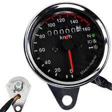 Universal Moto LED Backlight Signal Dual Odometer KMH Speedometer Gauge New dnz