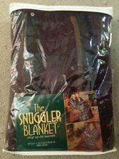"NEW The Snuggler Blanket Burgandy Plaid 60"" x 67"" 100% Acrylic"