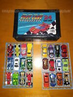 FAST LANE 24 Car Case w/ Mixed Collectible Die Cast Cars HOT WHEELS MATCHBOX