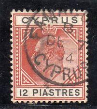 More details for cyprus edvii sg;57, 12pi chestnut and black f/u cds famagusta de.7.04 cat.£85 ++