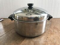 Revere Ware Copper Clad Stainless Steel   6 Qt. Stock Pot With Lid