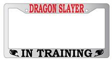 Chrome License Plate Frame Dragon Slayer In Training Auto Accessory Fairy Tail